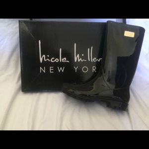 NIB Nicole Miller Waterproof Rain Boots